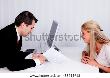 Husband and wife in a consultation