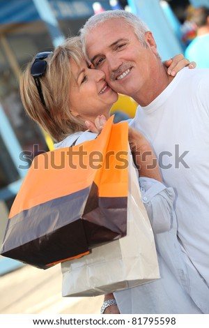 Husband and wife shopping