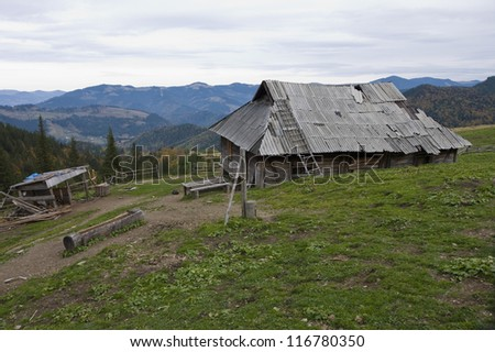hut in Carpathians #116780350