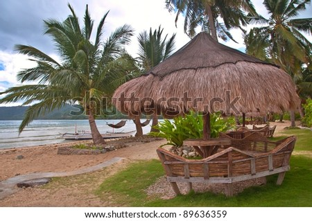 Hut on an Exotic Tropical Beach