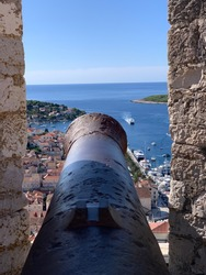 Hvar island and city -  croatia in the Mediterranean sea -  the spanish fortress in late summer