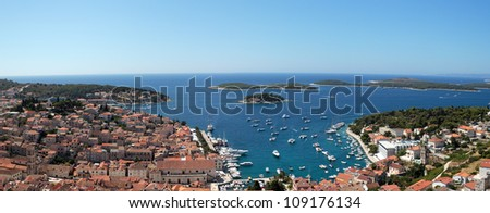 Hvar panorama - stock photo