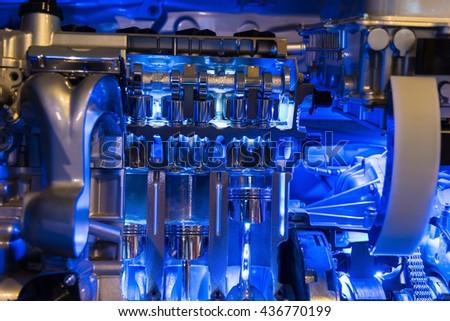 Hybrid Car engine part, internal combustion
