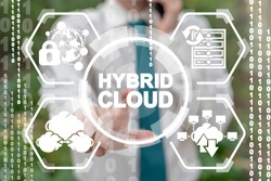 Hybrid Cloud Computing Security Data Base Concept.