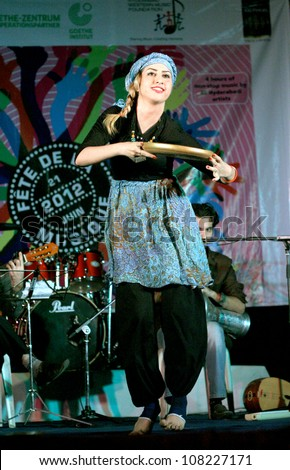 HYDERABAD,AP,INDIA-JUNE 21:Kian art group performs Persian Turkish Music at Alliance Francaise, Goethe Zentrum and HWM foundation World Music Day celebrations on June 21,2012 in Hyderabad,Ap,India.