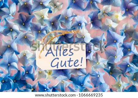 German Birthday card with summer flowers/happy birthday