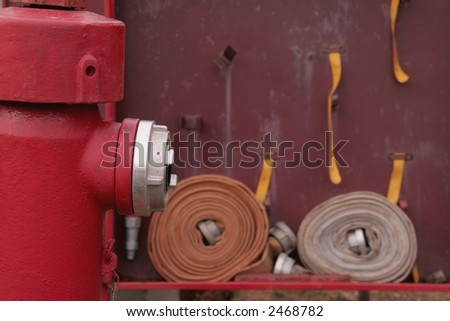 Hydrant particoluar with tools - stock photo