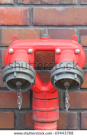 hydrant with two water intakes