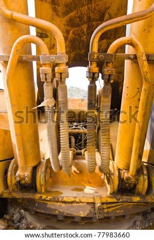 Hydraulic hoses on a old bulldozer