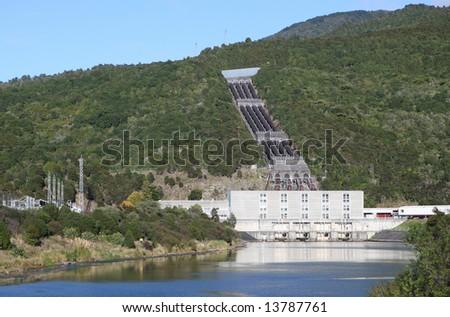 Hydro-Electric Power Station, New Zealand.