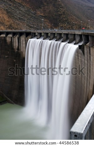 hydro power plant with a waterfall