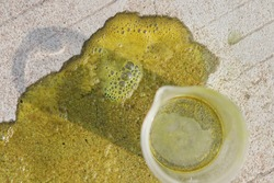 Hydrochloric acid leak on the floor