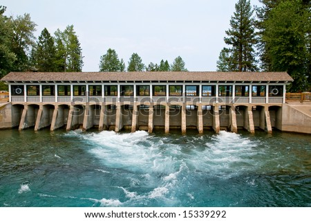 Hydroelectric dam on Truckee river, California