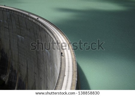 hydroelectric dam - view from above