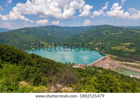 Hydroelectric power plant Bajina Basta. Perucac lake and the dam on the Drina river, Serbia. Stock photo ©