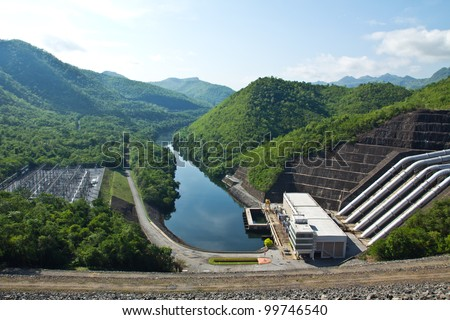 Hydroelectric power plant in Thailand