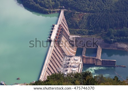 hydroelectric power plant on river