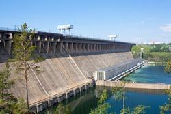Hydroelectric power station Bratsk. Siberia