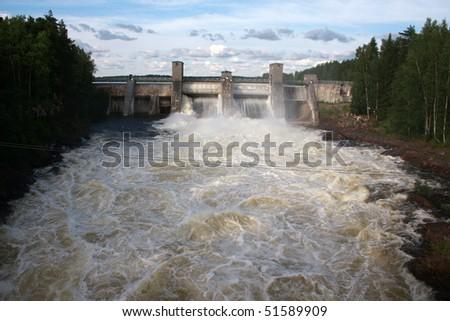 Hydroelectric power station in Imatra - Imatrankoski, Finland.
