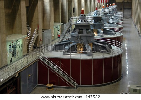 Hydroelectric turbines at Hoover Dam, Boulder City, Nevada