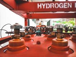 Hydrogen gas or H2 IND plant.Hydrogen Gas Bottles. Industrial compressed gas cylinders