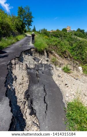 hydrological instability landslides on the roads