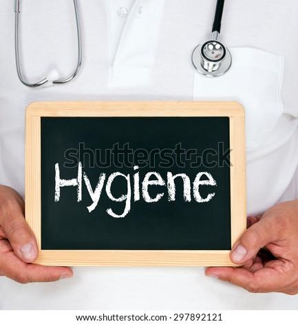 Hygiene - physician with chalkboard