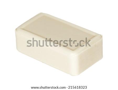 Hygiene soap on white background