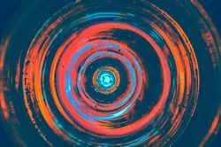 Hypnosis Spiral,concept for hypnosis, descending pattern, abstract background of scintillating circles colored texture