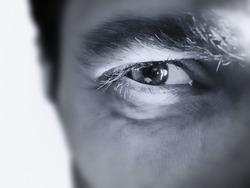 Hypnotic Male eye closeup