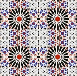 Hypnotic seamless mosaic pattern.