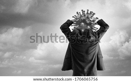 Hypochondriac concept Disease panic of outbreak anxiety and Hypochondria psychology or health fear of contagion or psychological anxiety of diseases and virus infections with 3D illustration elements.