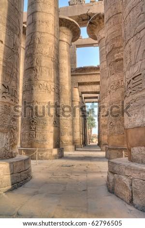 Hypostyle hall in Karnak temple,Luxor,  Egypt
