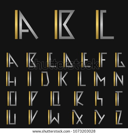 I and other alphabet letters monogram logo Foto stock ©