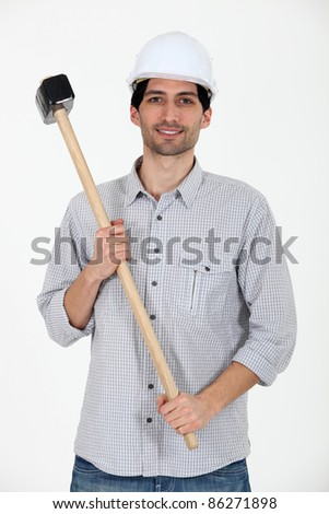 I got a sledgehammer. - stock photo
