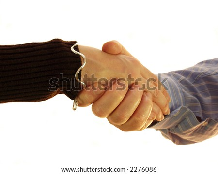 I have you suggests the hand shake trust me