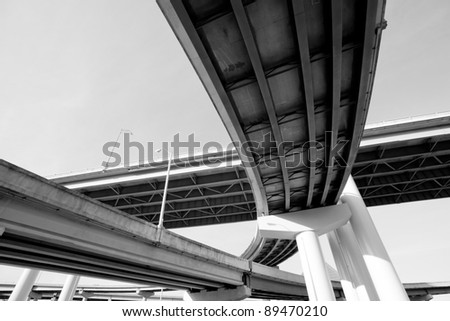 I-40 interstate overpass in Memphis, Tennessee #89470210