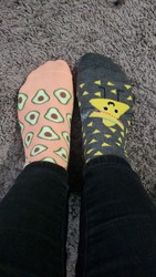 I like to wear 2 different socks