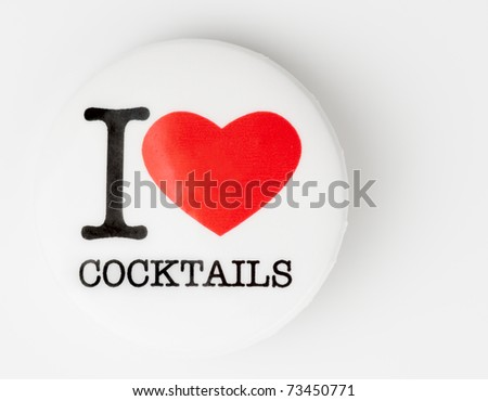 I love cocktails badge on light background