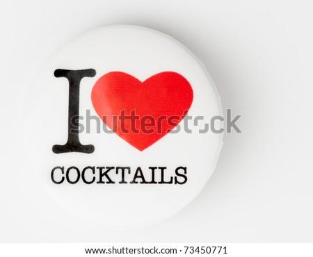 I love cocktails badge on light background