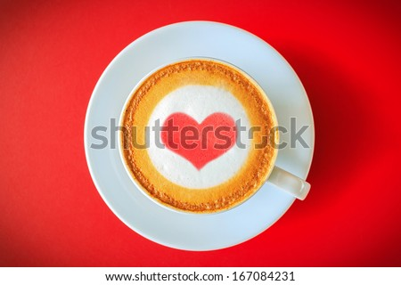 I love coffee,heart drawing on coffee