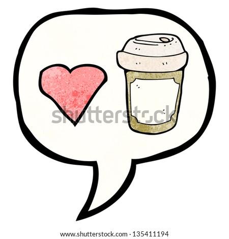 I love coffee symbol