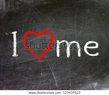 I love me handwritten with white chalk on a blackboard.