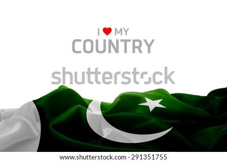 I Love My Country Pakistan flag #291351755