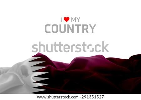 I Love My Country Qatar flag #291351527