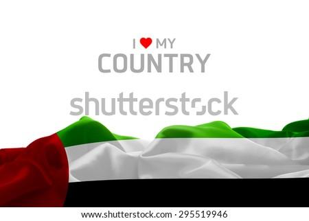 I Love My Country UAE flag #295519946