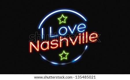 I Love Nashville neon sign