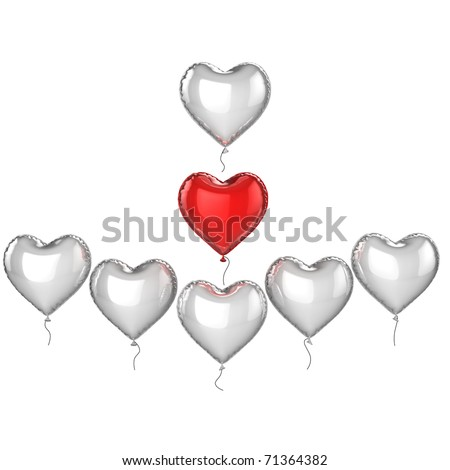 I love ***** - place the name of your love ones on the balloons