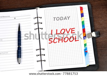 I love school message on today page