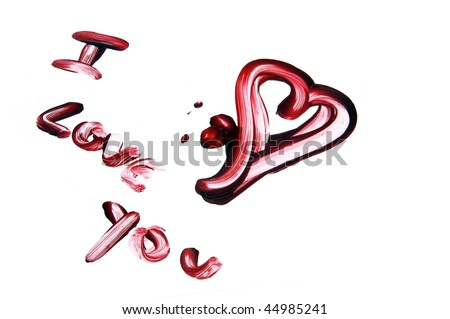 I Love You Wallpaper In Blood : I Love You Drawing With Blood On A White Background Stock Photo 44985241 : Shutterstock
